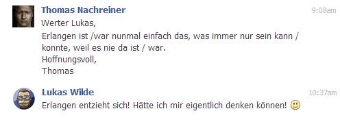 Thomas: Das war Erlangen.